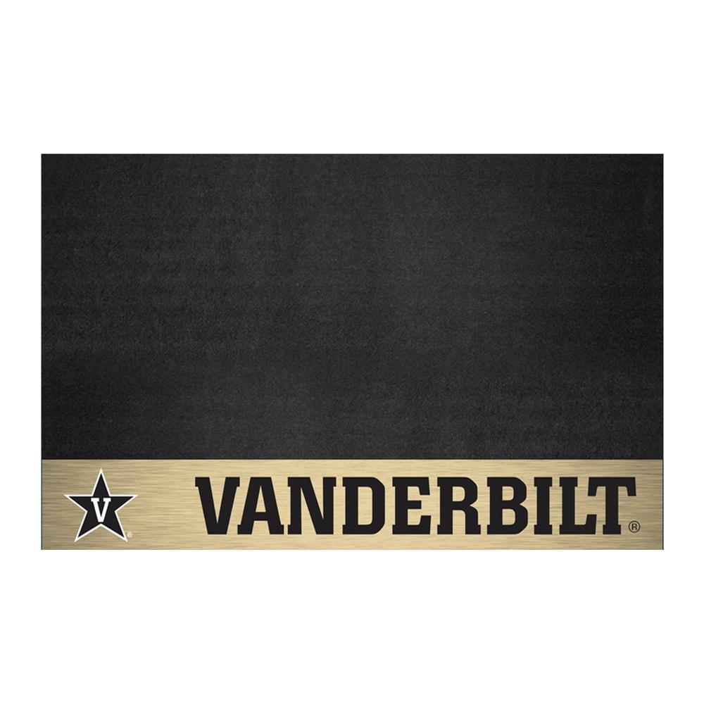 FANMATS NCAA 26 in. x 42 in. Vanderbilt University Grill Mat