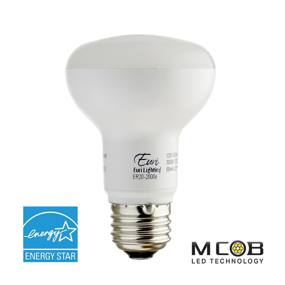 50W Equivalent Soft White (3000K) R20 Dimmable MCOB LED Flood Light