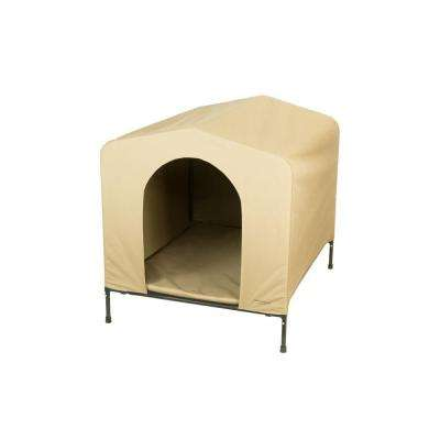 40 in. D x 33 in. W x 36.5 in. H HoundHouse Khaki X-Large Portable Dog House