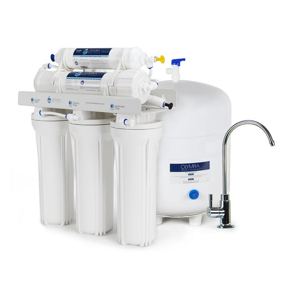 olympia water systems 5stage undersink reverse osmosis water filtration system with 50 gpd the home depot - Undersink Water Filter