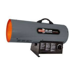 Click here to buy Dyna-Glo Delux 120K-150K BTU Forced Air Propane Portable Heater by Dyna-Glo Delux.