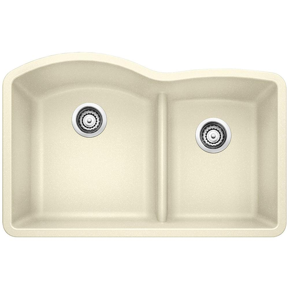 blanco diamond sink. Blanco Diamond Undermount Granite Composite 32 In. 0-Hole With Low-Divide Double Sink
