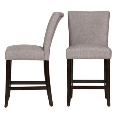 24 in. Whitmire Smoke Cushioned Bar Stool (Set of 2)