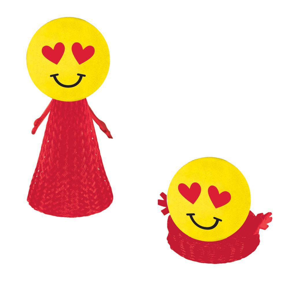 Amscan 3 5 In Valentine S Day Emoji Pop Ups 4 Count 6 Pack
