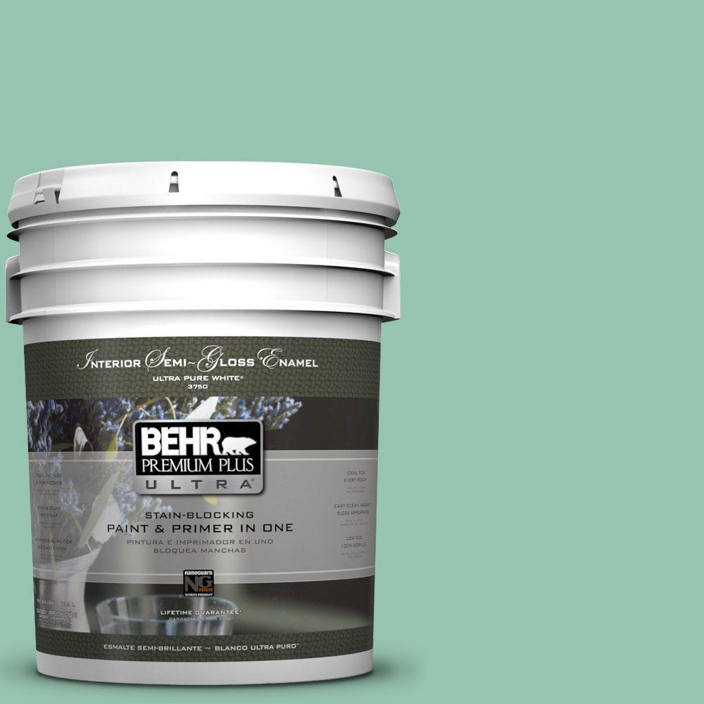 5-gal. #M420-4 Jade Mountain Semi-Gloss Enamel Interior Paint