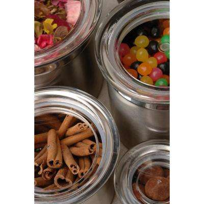 Studio Stainless Steel 1.75-Cup Canister with Acrylic Lid