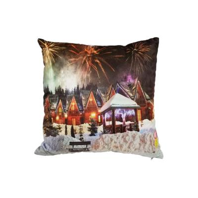 LED Christmas Fireworks Standard Pillow