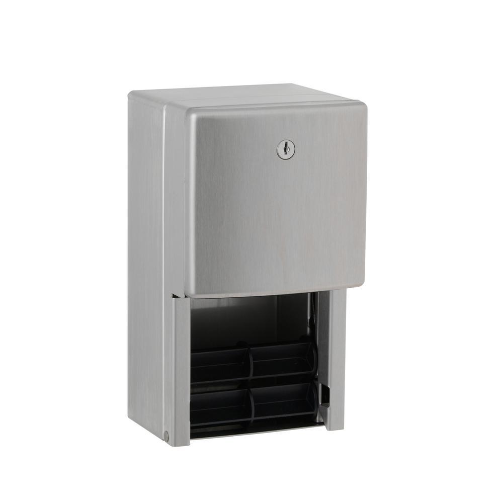 Contrua Multi-Roll Toilet Tissue Dispenser in Satin