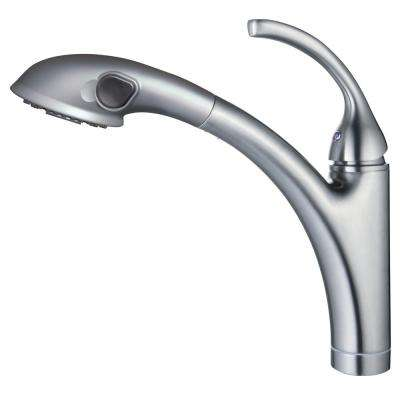 David Single-Handle Pull-Out Sprayer Kitchen Faucet in Brushed Nickel