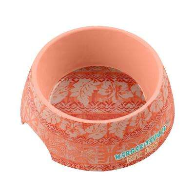 Margaritaville Hawaiian Tropic Medium Pet Bowl in Coral
