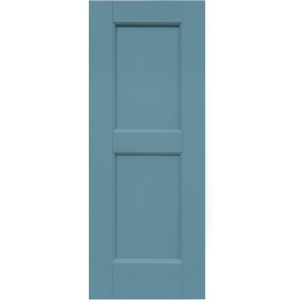 Winworks Wood Composite 12 in. x 31 in. Contemporary Flat Panel Shutters Pair #645 Harbor