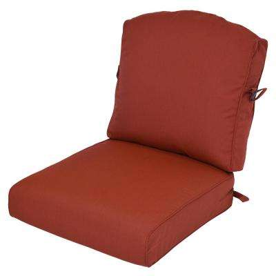Sunbrella Canvas Henna 2-Piece Deep Seating Outdoor Lounge Chair Cushion