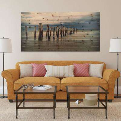 "30 in. x 60 in. ""Low Tide"" Arte de Legno Digital Print on Solid Wood Wall Art"