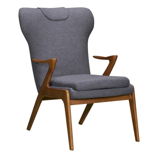 Armen Living Ryder Dark Grey Fabric Accent Chair LCRDCHGR