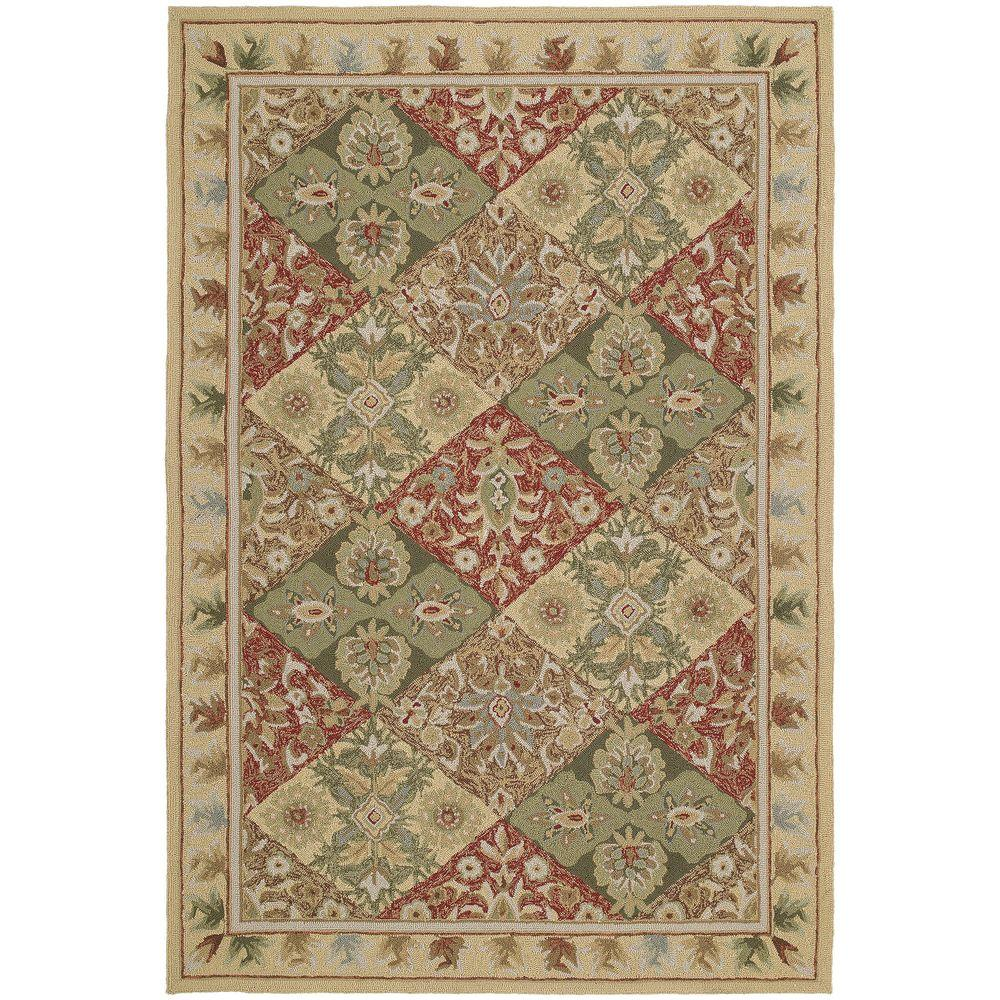 Kaleen Home and Porch Desoso Linen 2 ft. x 6 ft. Indoor/Outdoor Area Rug