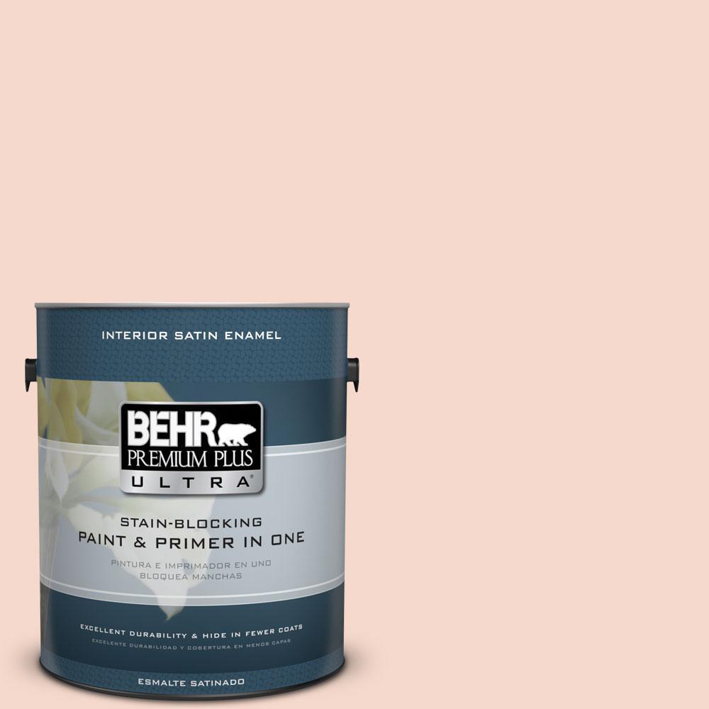 BEHR Premium Plus Ultra 1-gal. #M200-1 Peach Sachet Satin Enamel Interior Paint