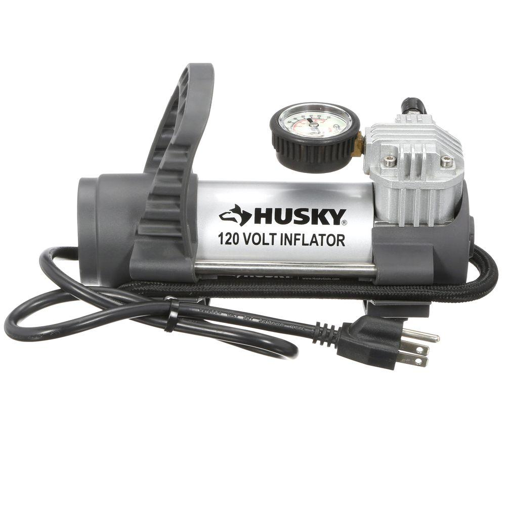 Husky 120 Volt Inflator Hy120 The Home Depot