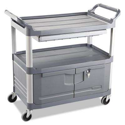 20 in. Xtra Open-Sided 1-Drawer Gray Instrument Utility Cart