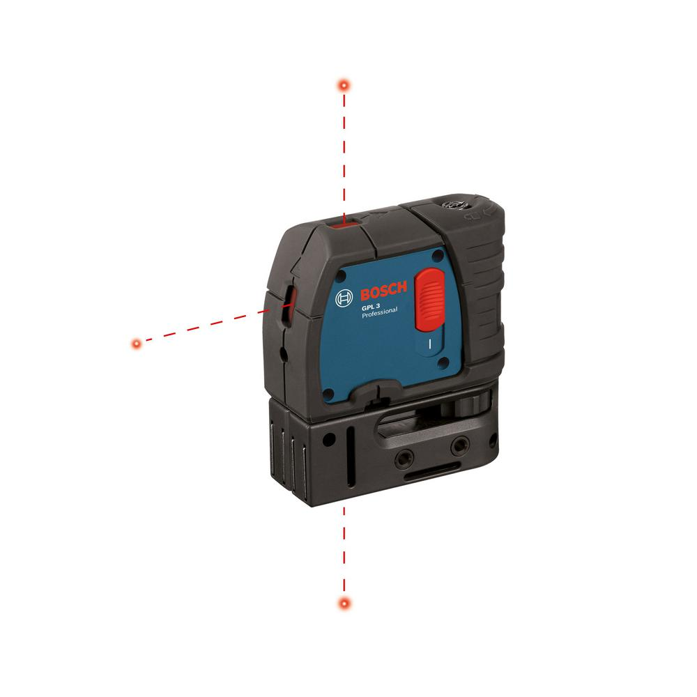 Bosch 100 ft. Self Leveling 3 Point Laser with Mounting Strap and Belt Pouch