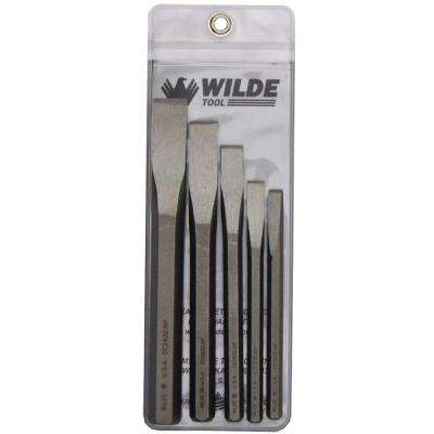Cold Chisel Set in Natural with Vinyl Pouch (5-Piece)