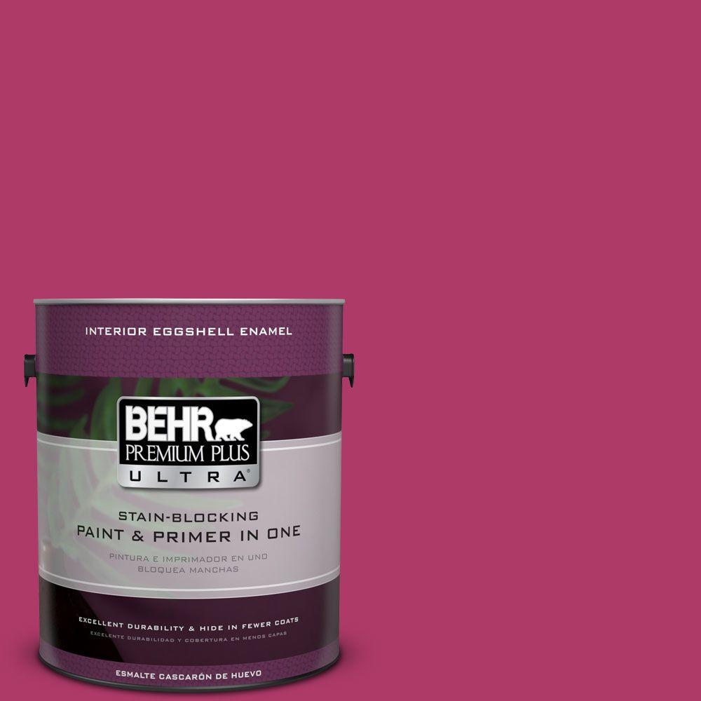 1 gal. #HDC-SM16-04 Bing Cherry Pie Eggshell Enamel Interior Paint