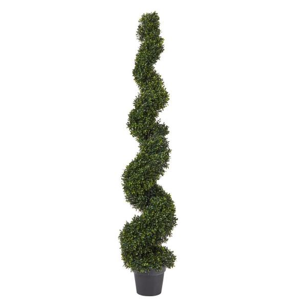 60 in. Faux Boxwood Spiral Topiary