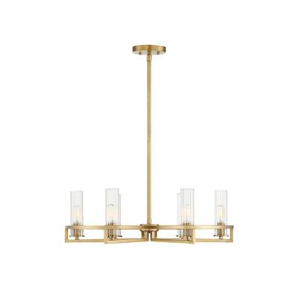 6-Light Warm Brass Chandelier