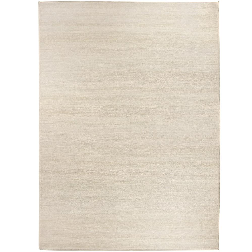 Ruggable Washable Solid Textured Cream 5 ft. x 7 ft. Stain Resistant Area Rug