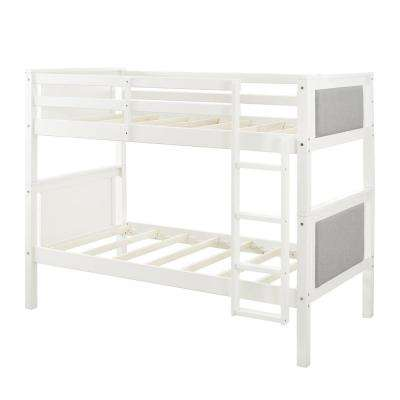 Alexa Gray Twin Over Twin Upholstered Bunk Bed