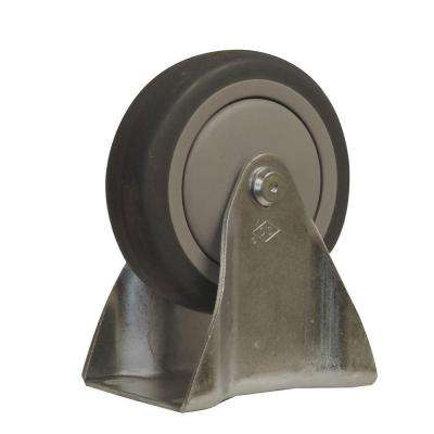 4 in. Thermoplastic Rubber Fixed Caster