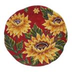 Sunset Sunflower Ceramic Round Platter