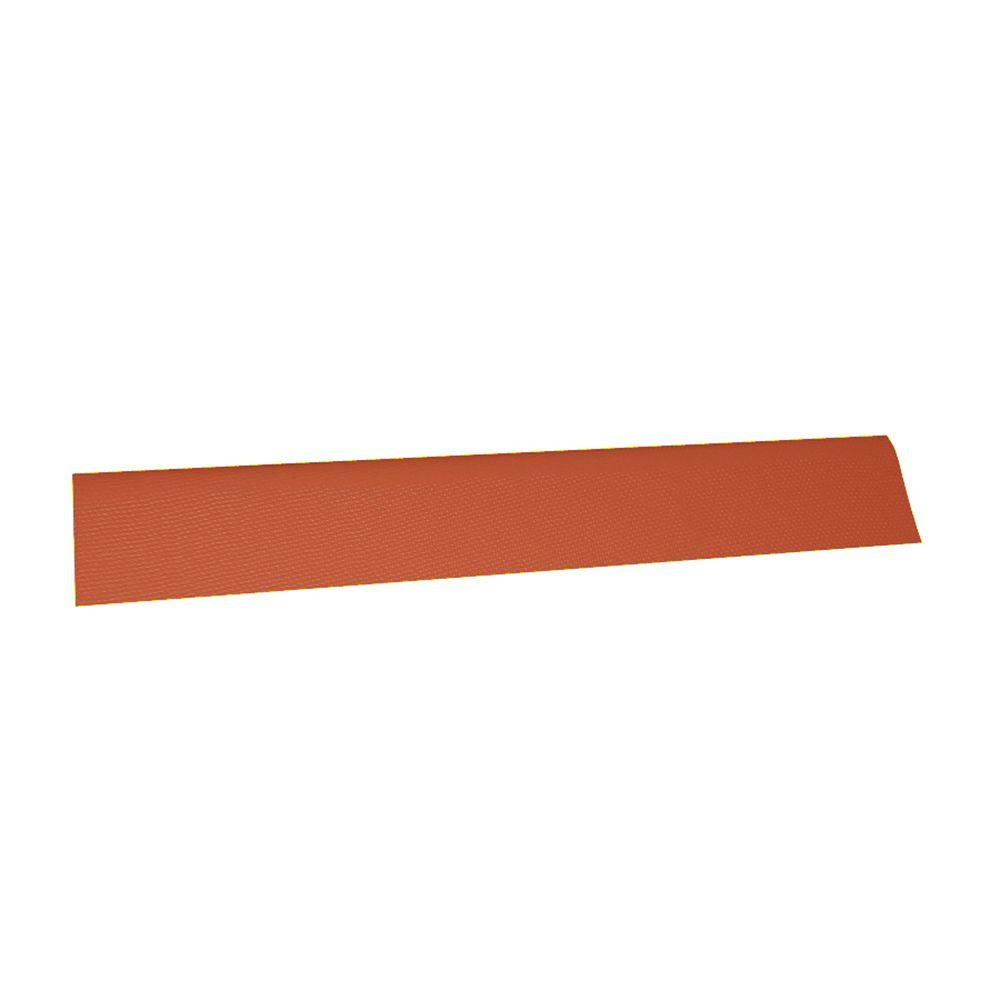 Onduvilla 3-2/7 ft. x 12.5 in. Terracotta Universal Ridge Cap