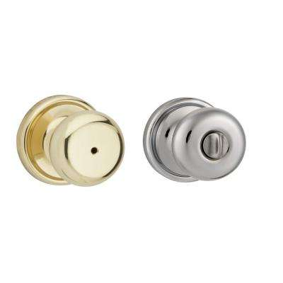 Hancock Polished Brass/Polished Chrome Bed/Bath Knob