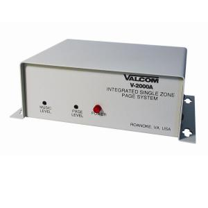 Valcom 1 Zone 1-Way Page Control with Power Supply by Valcom