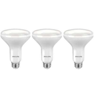 65-Watt Equivalent BR30 Dimmable LED Energy Star Soft White with Warm Glow (3-Pack)