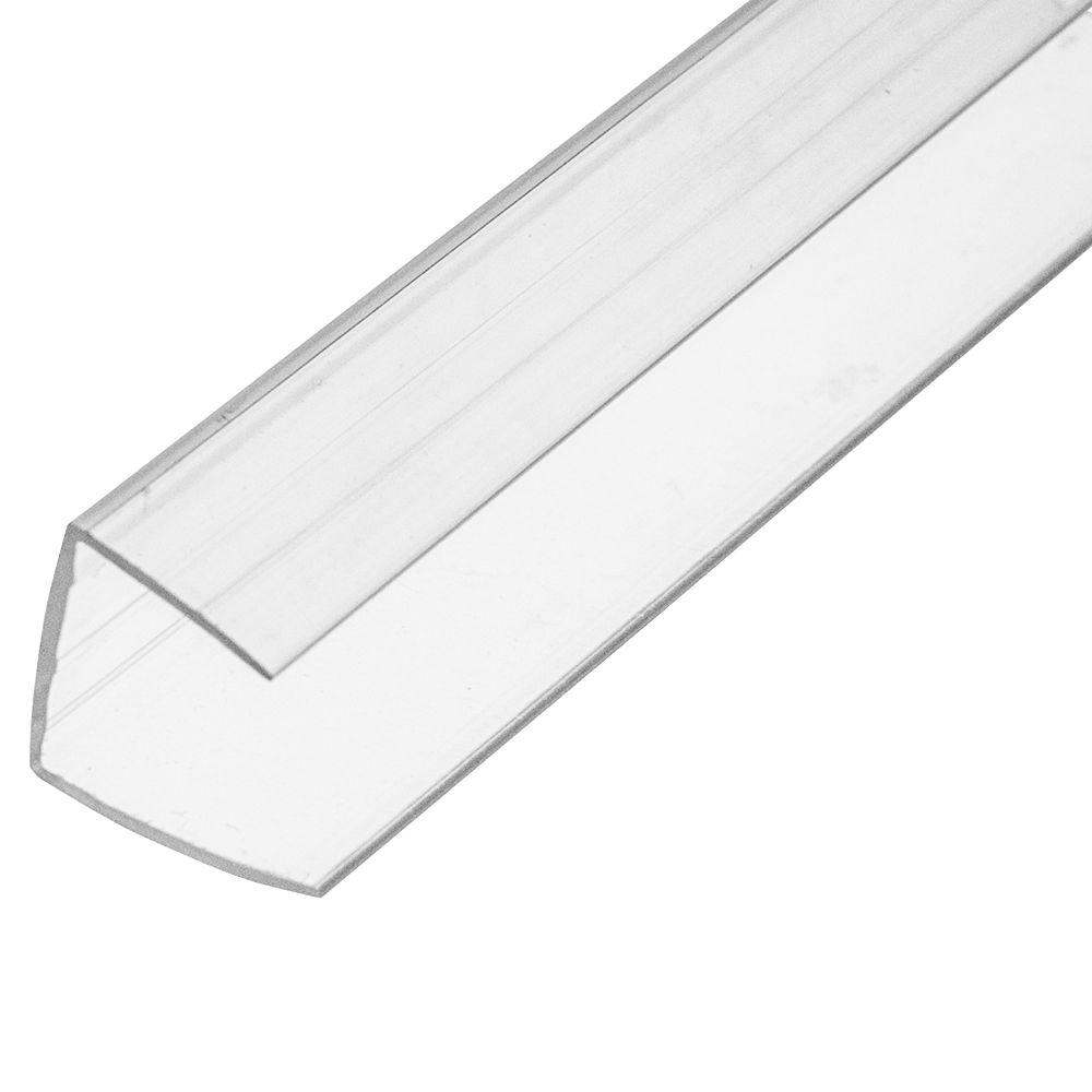 Sunlite 8 Ft Plastic U Profile For 16 Mm Panels 97758 The Home Depot
