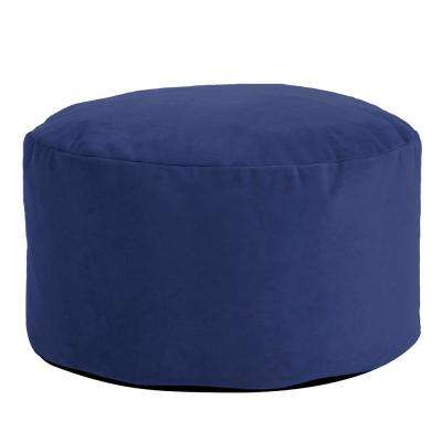Foot Pouf Bella Royal Blue Ottoman