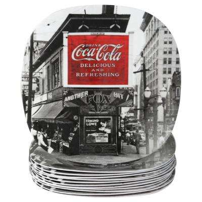 Coke Noir Black and White Dessert Plate (Set of 12)