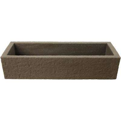 39 in. x 14.5 in. Sand Colored Resin Trough Planter