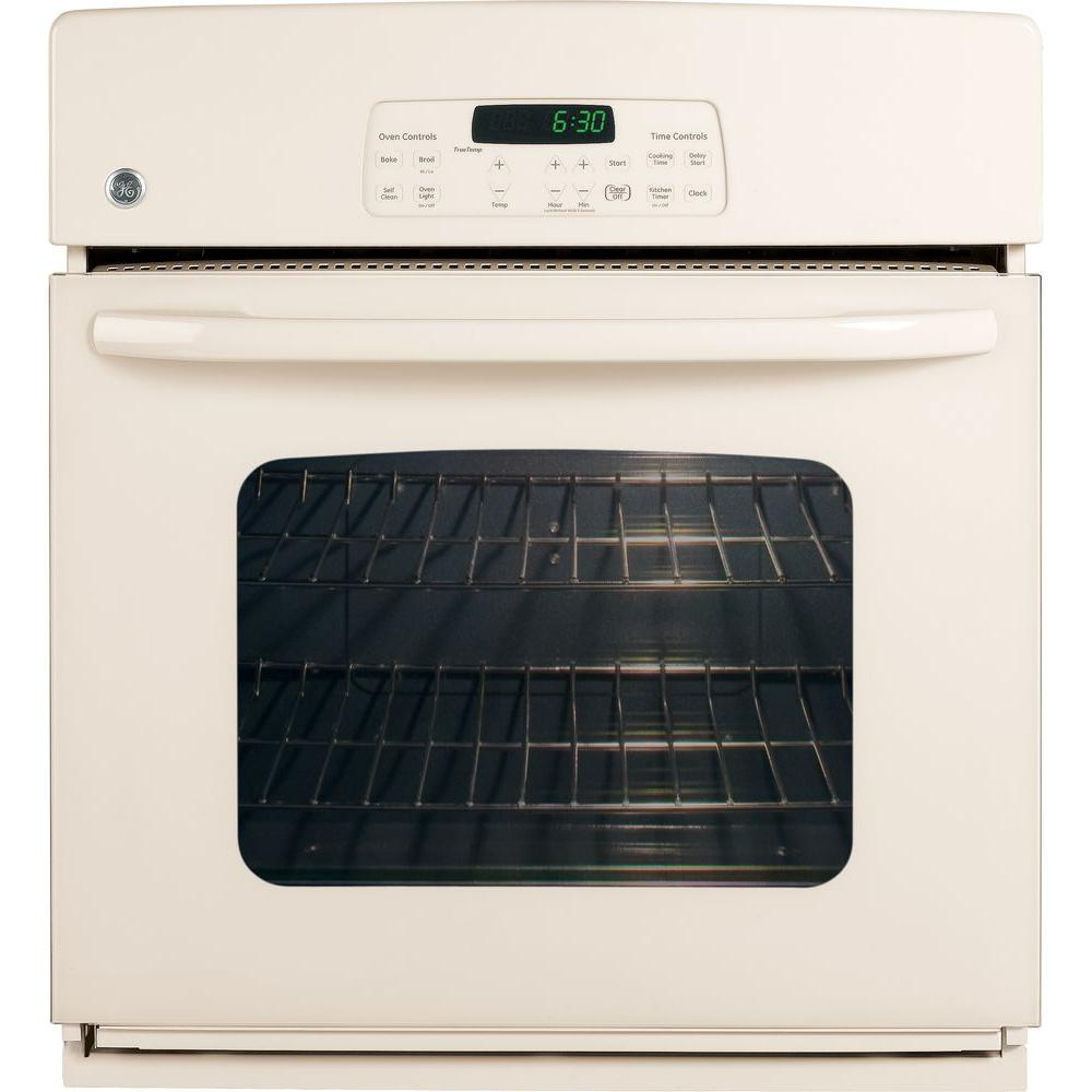 GE 27 in. Electric Single Wall Oven in Bisque