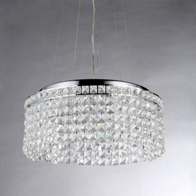 Melinda Crystal 4-Light Chrome Pendant