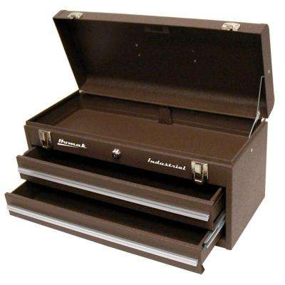 Industrial 20 in. 2-Drawer Friction Toolbox in Brown
