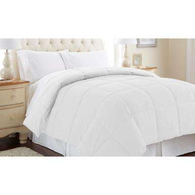 Reversible White Down Alternative King Comforter