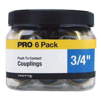 3/4 in. Brass Push-to-Connect Coupling Jar (6-Pack)