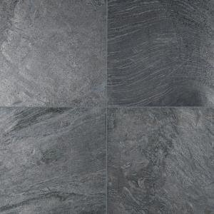 Ostrich Grey 12 in. x 12 in. Honed Quartzite Floor and Wall Tile (10 sq. ft. / case)