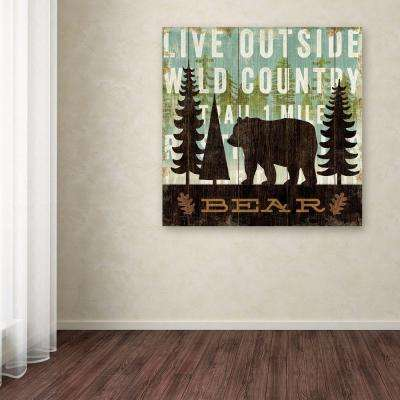 "35 in. x 35 in. ""Simple Living Bear"" by Michael Mullan Printed Canvas Wall Art"
