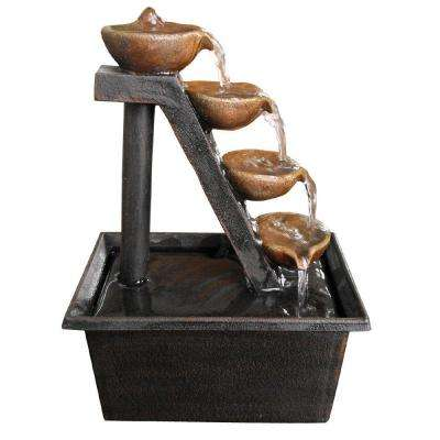 8 in. 4-Tier Step Tabletop Fountain