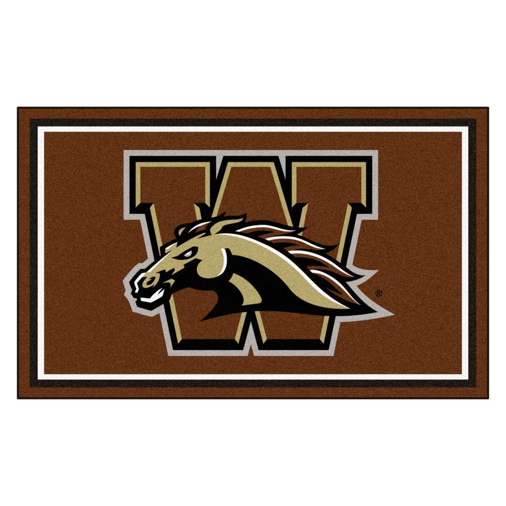 NCAA - Western Michigan University Brown 4 ft. x 6 ft. Area Rug