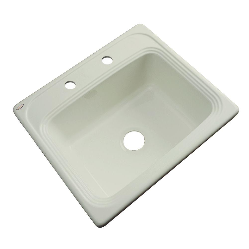 acrylic kitchen sink thermocast wellington drop in acrylic 25 in 2 single 1153