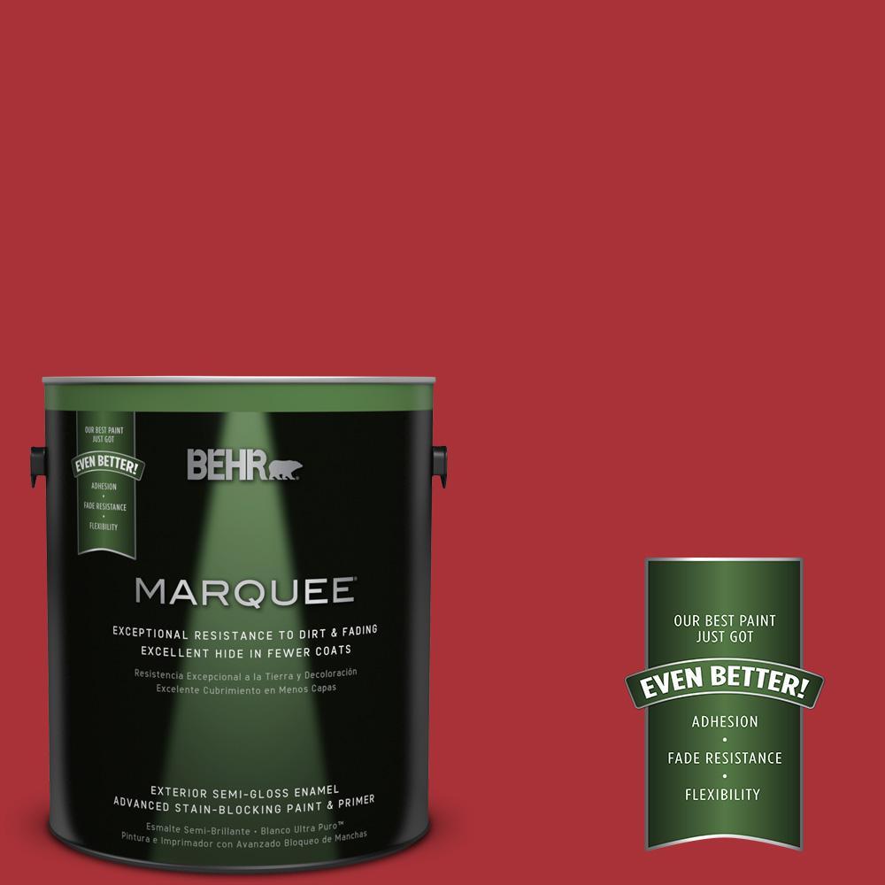 BEHR MARQUEE 1-gal. #S-G-160 California Poppy Semi-Gloss Enamel Exterior Paint